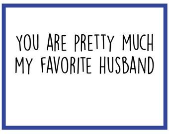 Favorite Husband - Anniversary Card