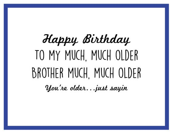 Older Brother Birthday Card Etsy