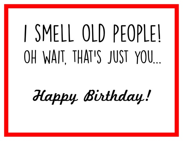 Smell Old People Birthday Card Etsy