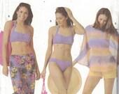 Simplicity 5103 Vintage Pattern - Womens 2 Piece Bathing Suit, Pants, Shorts, Top and Bag Size 14,16,18,20 UNCUT
