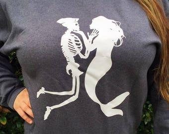 Mermaid Sailor Crewneck Sweatshirt