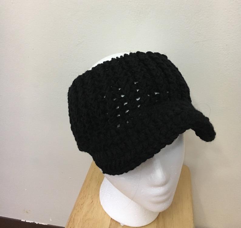 black messy bun hat Newsboy hat headband Ear warmer headband crocheted hat off white messy bun hat winter visor
