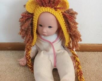 lion hat, crochet lion hat, baby shower gift