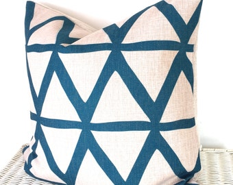 Teal cushion cover, geometric cushion, scandi cushion, scandi pillow, teal throw pillow, teal bedroom, teal pillow