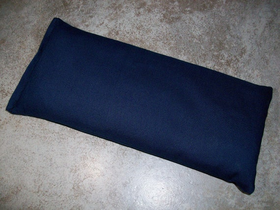 Lavender, Chamomile and Flax Seed Dark Blue Fabric Aromatherapy Eye Pillow