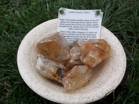 Amber Honey Calcite XL Crystals