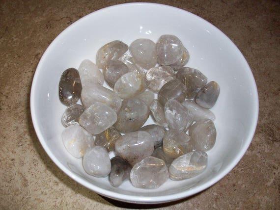 Rutilated Quartz Tumbled Stones