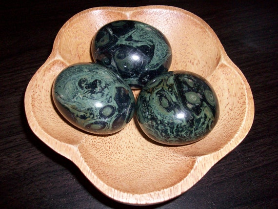 Kambaba Jasper Palm Stones (Round)
