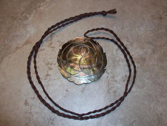Abalone Rose Necklace