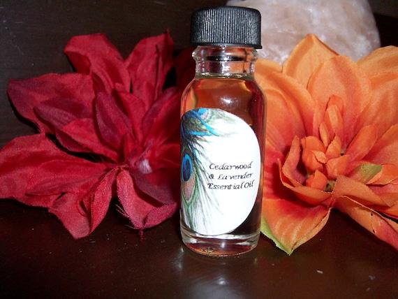 Cedarwood and Lavender Essential Oil Blend 1/2 oz Bottle