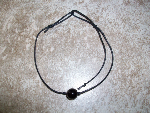 Black Obsidian 8mm Single Bead Stackable Knotted Bracelet