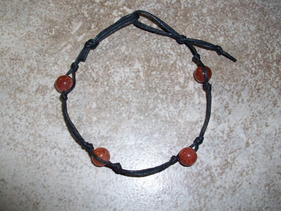 Fire Agate Stackable Knotted Bracelet