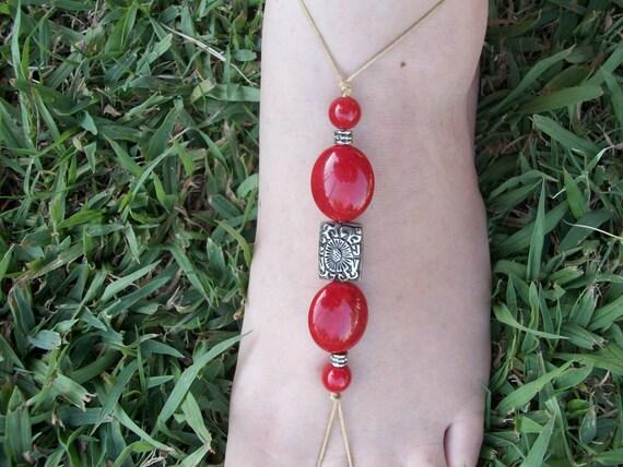 Scarlet Barefoot Sandals
