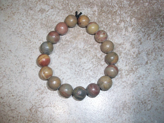 Shiva Lingam Small Size 10mm Gemstone Stretch Bracelet