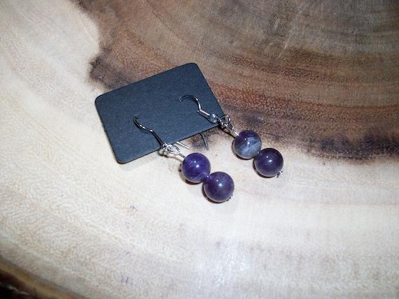 Amethyst Sterling Silver 8mm Gemstone Earrings