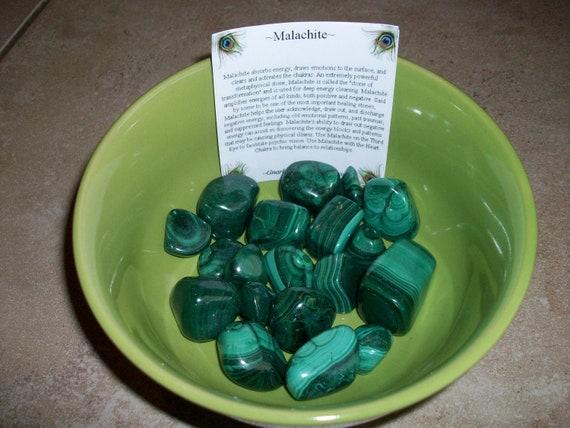 Malachite (Cracked) Tumbled Stones