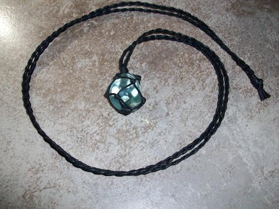 Blue Obsidian Braided Necklace