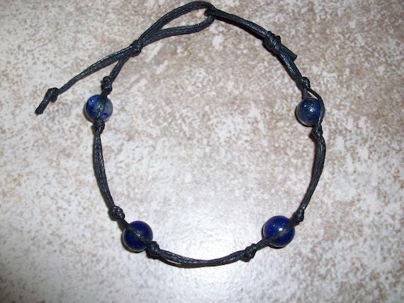 Lapis Lazuli Stackable Knotted Bracelet