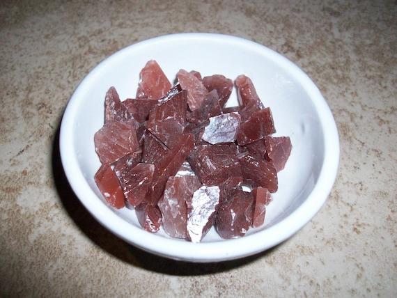 Red Calcite Raw Chipstones (2 Stones)