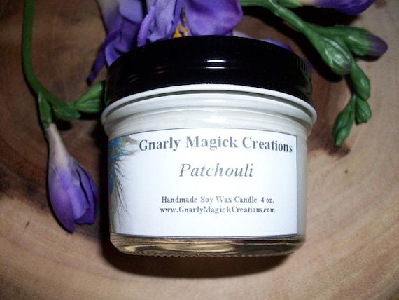 Handmade Patchouli 4 oz Jar Candle