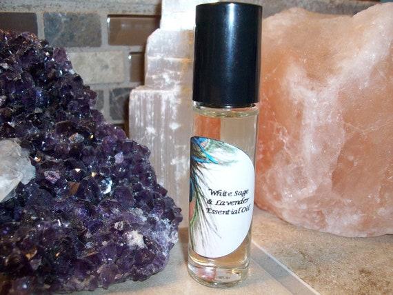 White Sage and Lavender Essential Oil Blend 1/3 oz Roller Bottle