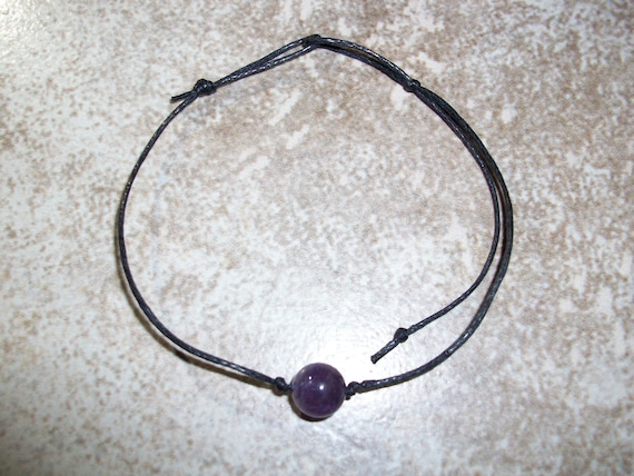 Amethyst 8mm Single Bead Stackable Knotted Bracelet