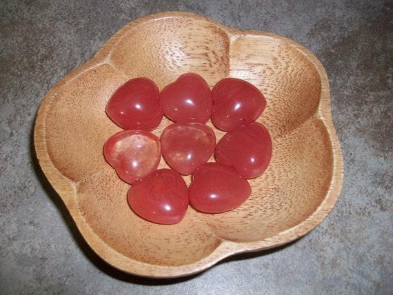Cherry Quartz Small Puffy Heart ( 1 Stone )