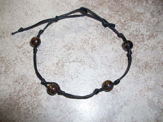 Tiger Iron (Mugglestone) Stackable Knotted Bracelet