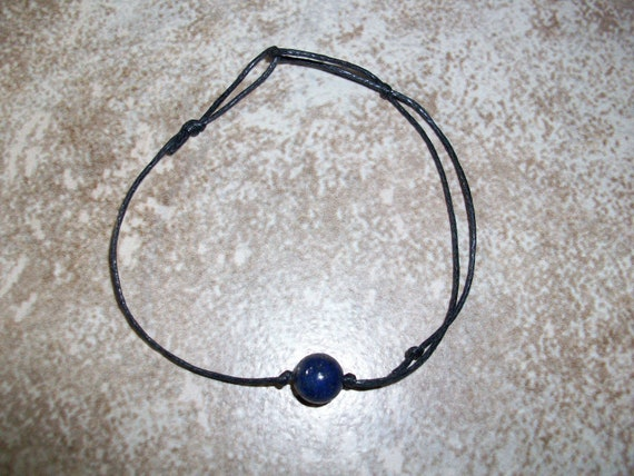 Lapis Lazuli 8mm Single Bead Stackable Knotted Bracelet