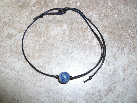 Sunset Sodalite 8mm Single Bead Stackable Knotted Bracelet