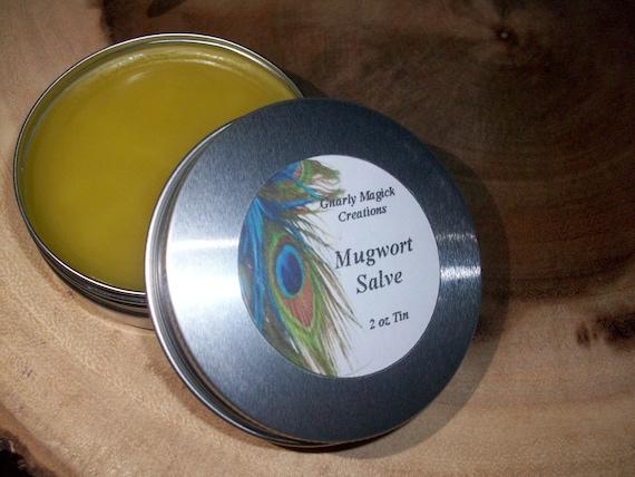 Mugwort (Artemisia Vulgaris) Infused Oil Salve 2 oz