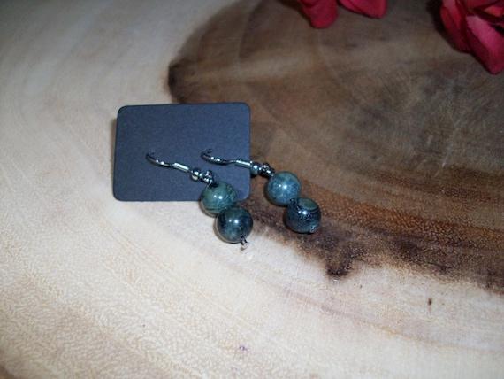 Kambaba Jasper Sterling Silver 8mm Gemstone Earrings