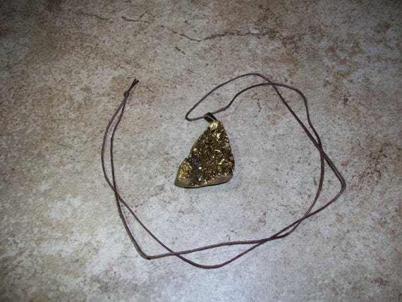 Gold Colored Chunk Pendant