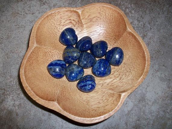 Lapis Lazuli Small Puffy Heart ( 1 Stone )
