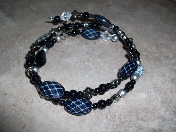 Black and Silver Spiral Bracelet