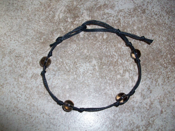 Smoky Quartz Stackable Knotted Bracelet