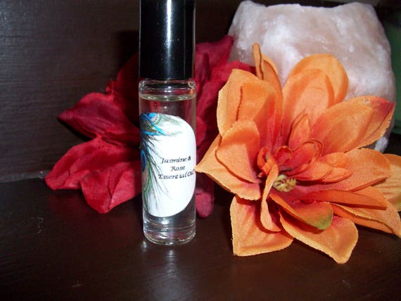 Jasmine and Rose Essential Oil Blend 1/3 oz Roller Bottle