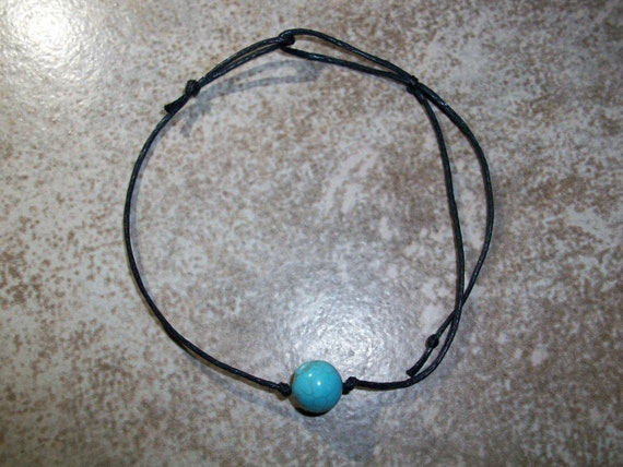 Turquoise Magnesite 8mm Single Bead Stackable Knotted Bracelet