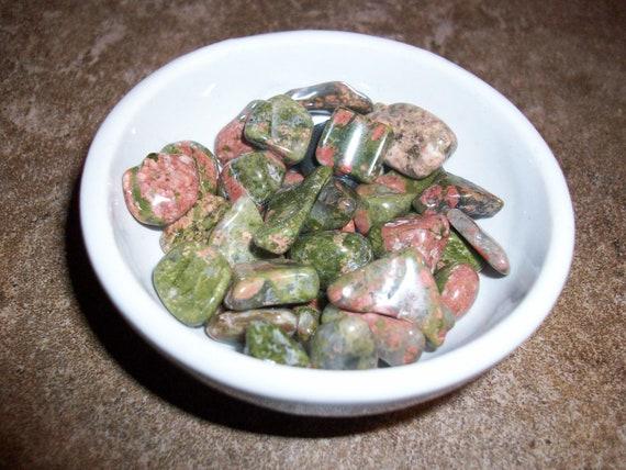 Unakite Tumbled Chipstones (2 Stones)