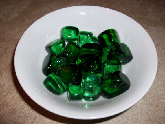 Green Obsidian (Helenite) Small Tumbled Stones