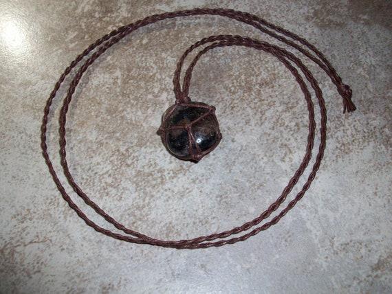 Chiastolite Braided Necklace