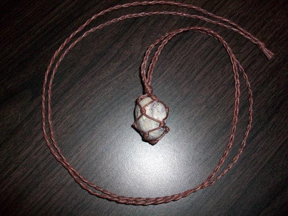 Blue Quartz Braided Necklace