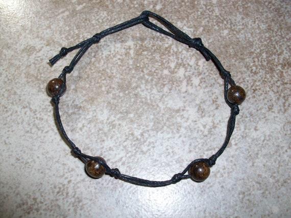 Bronzite Stackable Knotted Bracelet