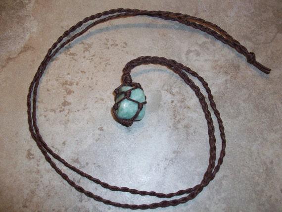 Amazonite Braided Necklace