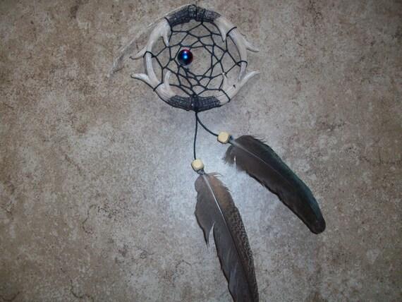 Tie-Dyed Beaded Dreamcatcher