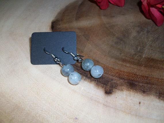 Labradorite Sterling Silver 8mm Gemstone Earrings