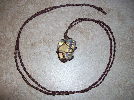 Yellow Obsidian Braided Necklace