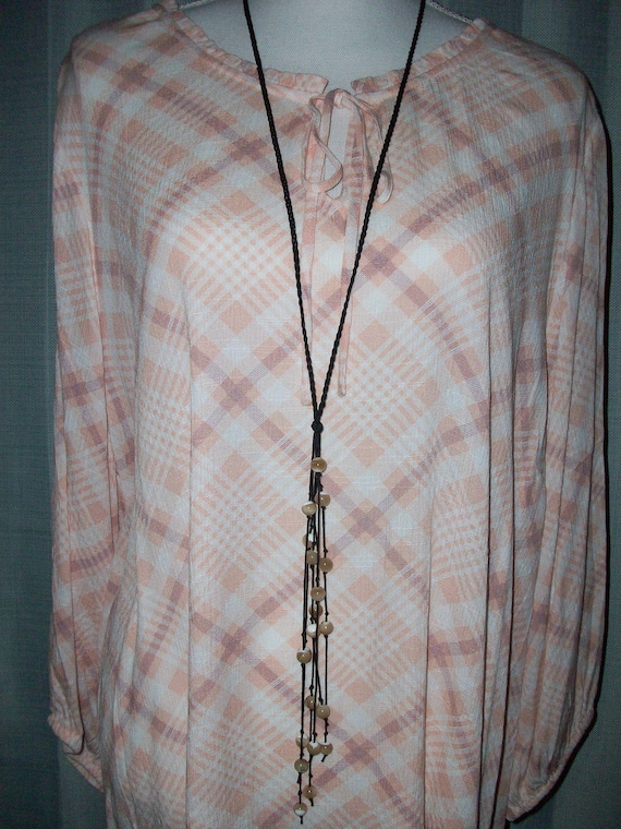 Natural Mother of Pearl Lariat Necklace