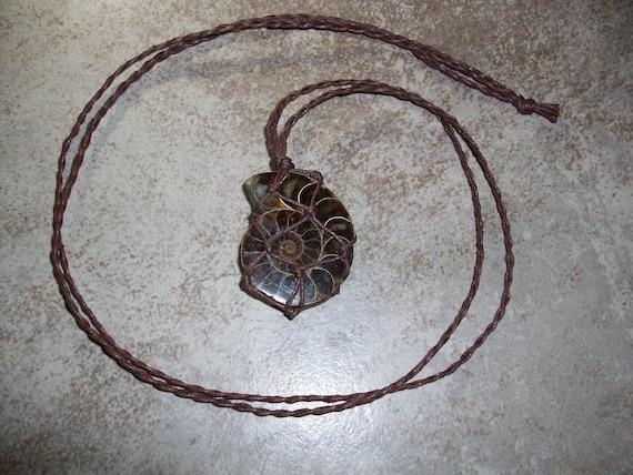 Ammolite Braided Necklace