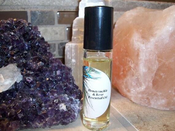 Honeysuckle and Rose Essential Oil Blend 1/3 oz Roller Bottle